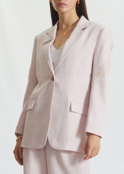 Светло-розовый блейзер Miss Sixty с декором-крыльями на спине, фото