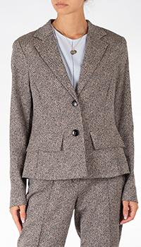 Коричневый пиджак Riani с узором-елочкой, фото