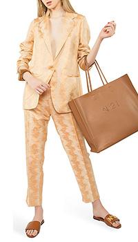 Оранжевый костюм Forte Forte с разводами, фото