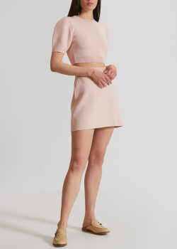 Трикотажный костюм Elisabetta Franchi с фирменным тиснением, фото