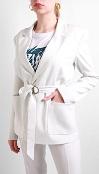 Белый пиджак Patrizia Pepe с поясом, фото