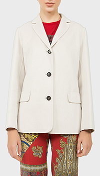 Шерстяной пиджак Max Mara с прямым подолом, фото