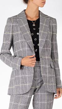 Серый пиджак Sportalm в клетку, фото
