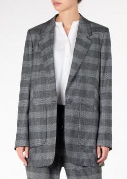 Клетчатый пиджак Lorena Antoniazzi на одну пуговицу, фото