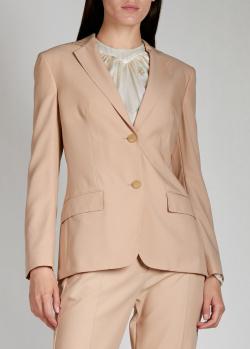 Шерстяной пиджак Agnona бежевого цвета, фото