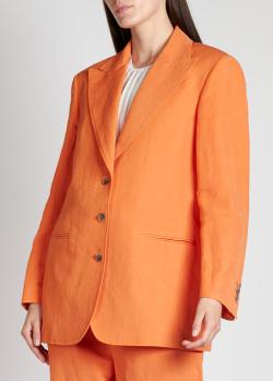 Оранжевый пиджак Alberta Ferretti с прорезными карманами, фото