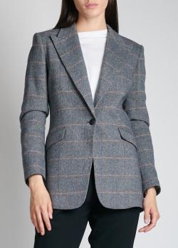 Шерстяной пиджак в клетку Rag & Bone на одну пуговицу, фото