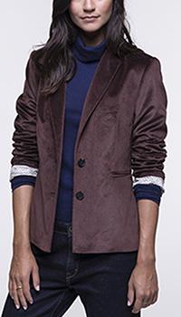 Велюровый жакет Trench & Coat бордового цвета, фото