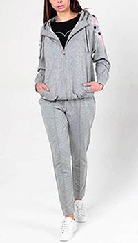 Серый спортивный костюм Bogner с вышивкой, фото