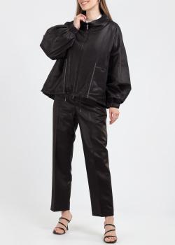 Коричневый костюм Fabiana Filippi куртка с брюками, фото