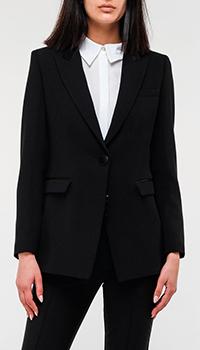Удлиненный пиджак Emporio Armani черного цвета, фото