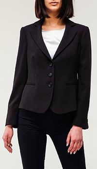 Женский пиджак Emporio Armani черного цвета, фото