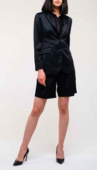 Однобортный пиджак Ermanno Ermanno Scervino черного цвета, фото