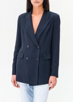 Двубортный пиджак Ermanno Ermanno Scervino темно-синего цвета, фото