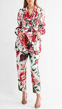 Шелковый костюм Dolce&Gabbana с цветочным принтом, фото