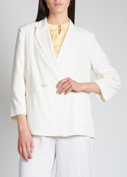 Белый пиджак Fabiana Filippi с укороченным рукавом, фото