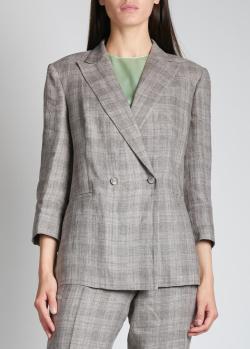 Льняной пиджак Fabiana Filippi с укороченным рукавом, фото