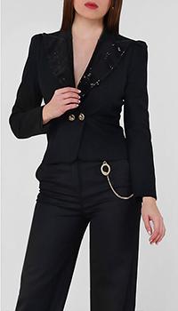 Черный пиджак Frankie Morello с блестками, фото