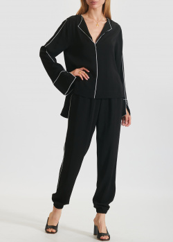 Черный костюм Iceberg Ice Play брюки с блузкой, фото