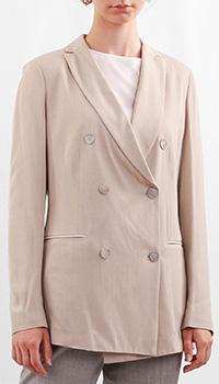Женский пиджак Fabiana Filippi бежевого цвета, фото