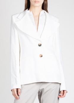 Белый пиджак Khaite с широкими лацканами, фото