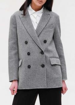 Шерстяной пиджак Max Mara Weekend серого цвета, фото