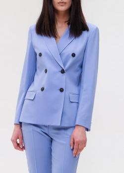 Шерстяной пиджак Max Mara Weekend голубого цвета, фото