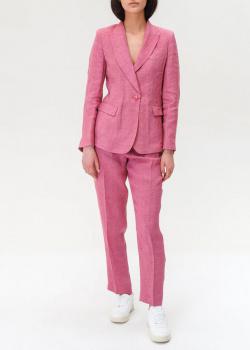Льняной костюм Max Mara Weekend розового цвета, фото