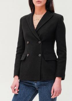 Двубортный пиджак Max Mara Weekend черного цвета, фото