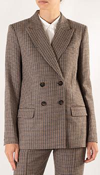 Двубортный пиджак Maje с узором-гусиная лапка, фото