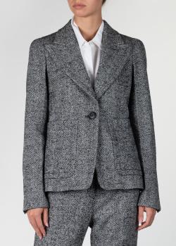 Серый пиджак N21 с накладными карманами, фото