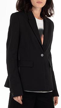 Черный пиджак Off-White с принтом на спине, фото