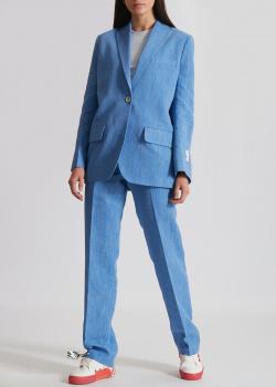 Льняной костюм Off-White голубого цвета, фото