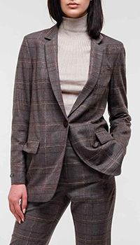 Женский шерстяной пиджак Peserico в клетку, фото