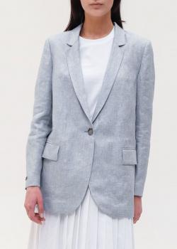 Льняной пиджак Peserico серого цвета, фото