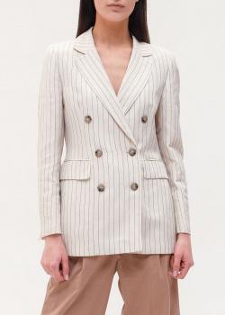 Льняной пиджак Peserico в мелкую полоску, фото