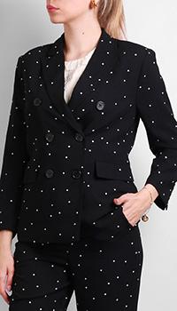 Черный пиджак Silvian Heach в мелкий горошек, фото