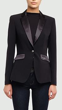Черный пиджак Philipp Plein с изображением черепа, фото