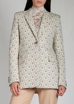 Однобортный пиджак Paco Rabanne с узором, фото