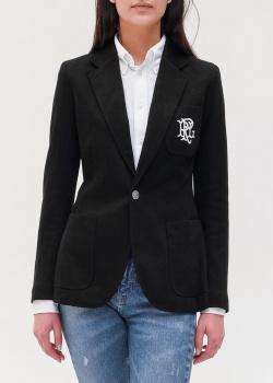 Черный пиджак Polo Ralph Lauren с накладными карманами, фото