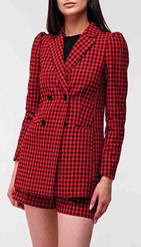 Красно-черный пиджак Red Valentino в клетку, фото