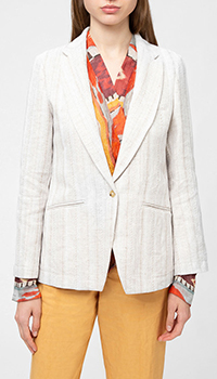Серый пиджак Forte Forte из льна, фото