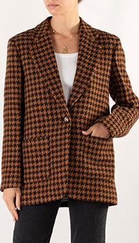 Однобортный пиджак Sandro с накладными карманами, фото