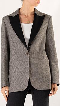 Пиджак прямого кроя Sandro с контрастным воротником, фото
