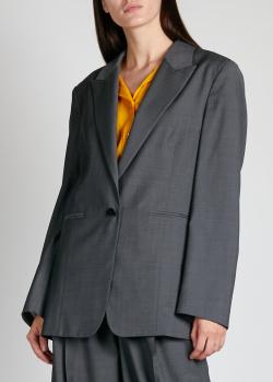 Шерстяной пиджак Rochas серого цвета, фото