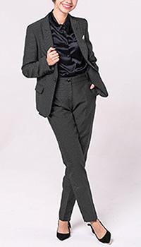 Брючный костюм Emporio Armani черного цвета, фото