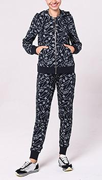 Спортивный костюм Love Moschino черного цвета с принтом, фото
