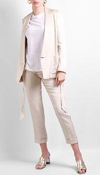 Льняной костюм Max&Moi бежевого цвета, фото