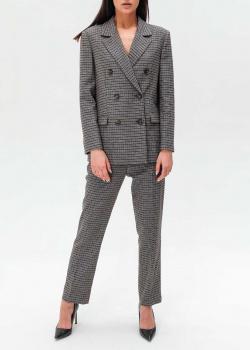 Брючный костюм Trussardi из смесовой шерсти в клетку, фото