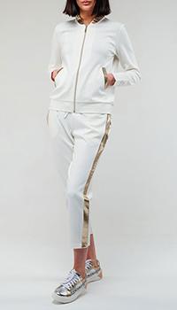 Белый спортивный костюм Twin-Set с лампасами, фото